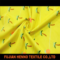 Hawaii printed waterproof flexible polyester fabric spandex fabric lycra fabric for swimwear