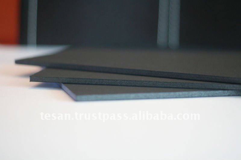 Polystyrene Paper self adhesive PS black foam board
