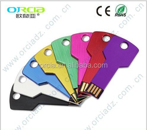 key shape usb flash drive,flat usb key with Free Logo usb key
