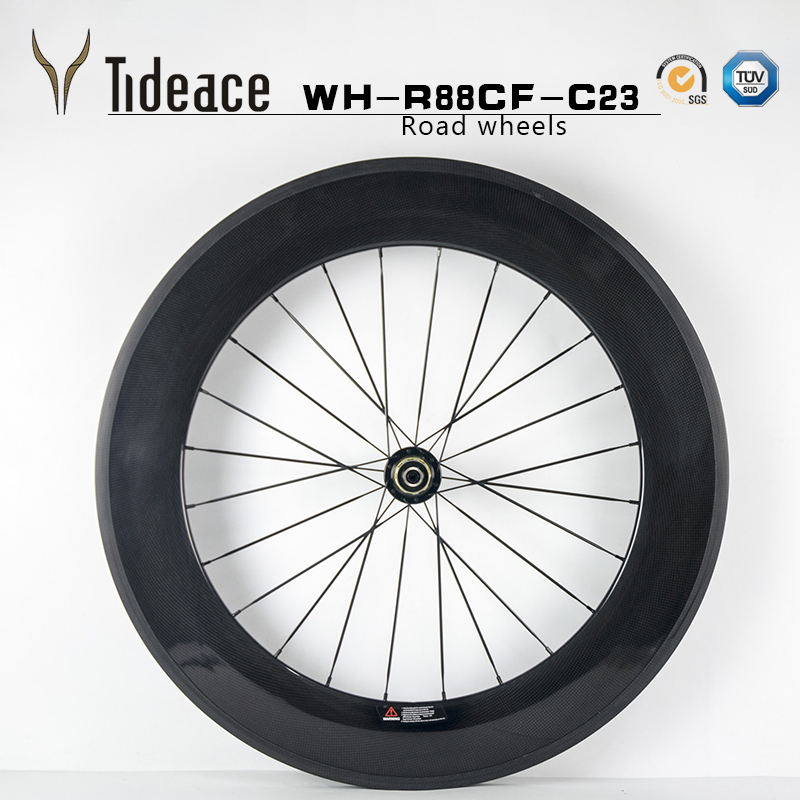 Chinese Bike Wheel Carbon Road wheels Bicycle Wheelset 88mm Clincher Or Tubular OEM factory rims carbon 88mm wheelset