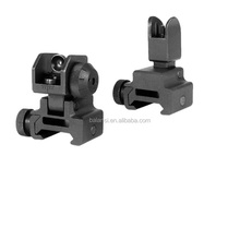 Tactical Iron Flat Top Front Rear Flip-up Sight Combination Set