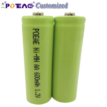 1 year warranty 1.2v 600ma aa rechargeable ni-mh battery pack