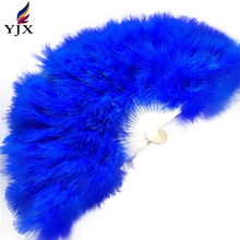 factory cheap decorative hand fans turkey feather fan for belly dance