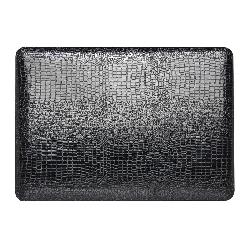 Crocodile Pattern Soft-Touch Leather Cover Sleeve Case for MacBook Air 11 13, Pro 13 15 12 Inch Retina