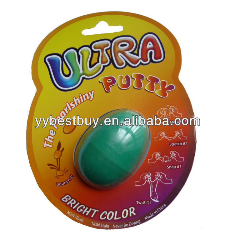 kids educational toy untra bouncing putty science putty toy,1/2 oz egg shell packing