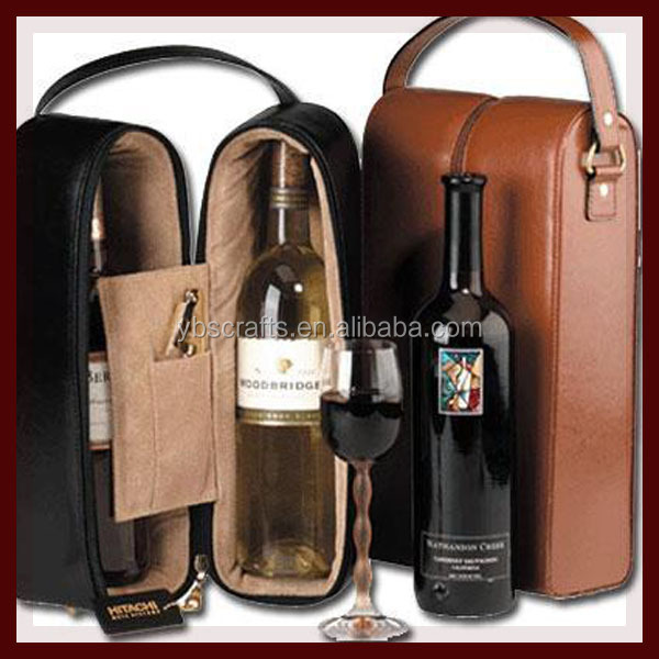 Factory direct hot new products for 2015 alibaba china wholesale leather wine bag carrier