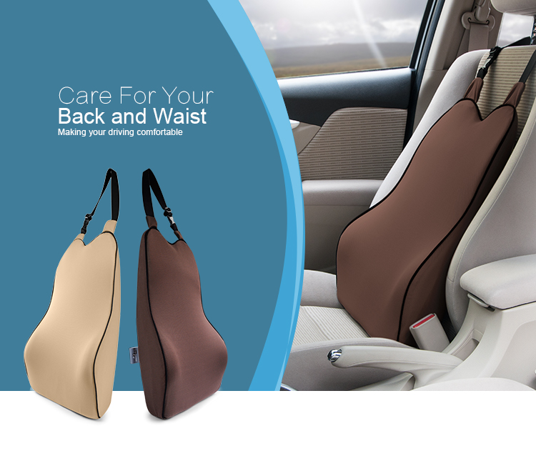 BYC Car Interior Accessories Comfortable Lumbar Support Cushion For Car