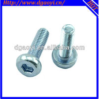 Aluminum hex flat head machine screw
