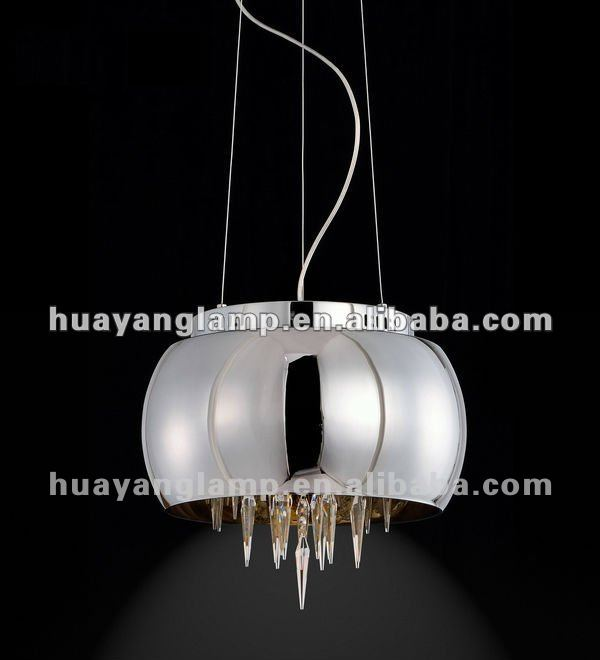 US Home crystal modern crystal glass chrome finish pendant lamp HY2001-1PC