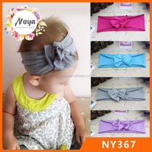 Baby newborn soft cotton flower headbands stretch infant toddler headbands