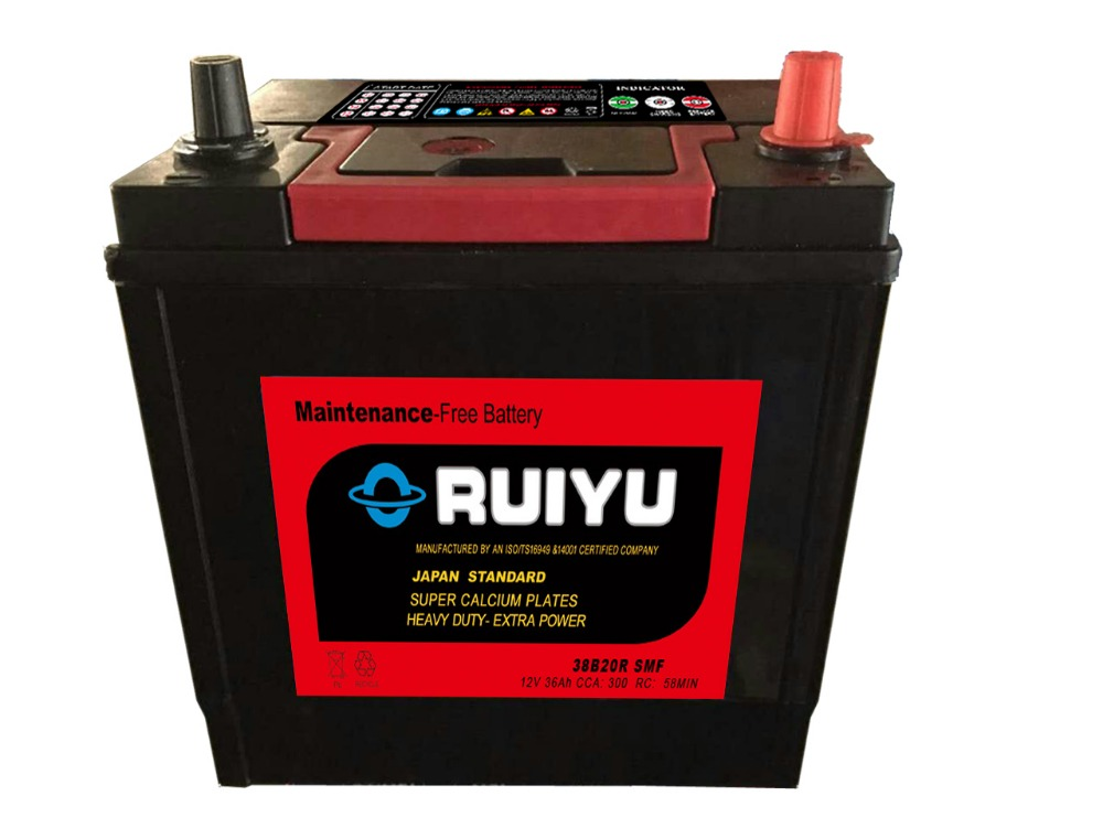 12v 36ah automobile car battery ns40zl car battery