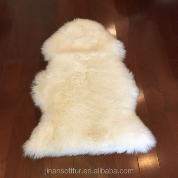 Luxurious natural lamb skin shaggy rug for living room