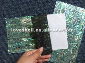 flexible abalone shell paper with sticker