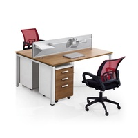 Multi Person Panel Surface Computer Desk Mfc Laptop Table MFC/MDF Office Staff Workstation