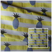 100% polyester High density jacquard pineapple design fabric for women dress