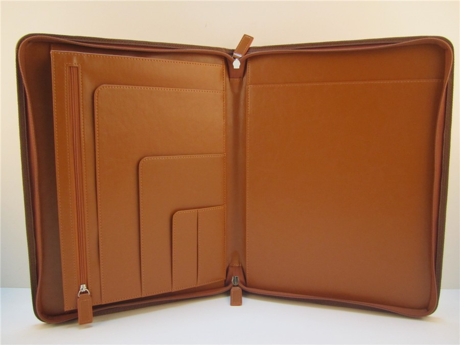 conference a4 size leather file folder with flap
