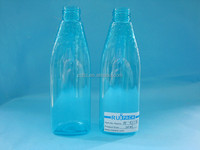 200ml clear PET plastic bottle with the bottom of the triangle