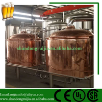 Mini home Beer brewery equipment for sale / Red Copper Brewhouse