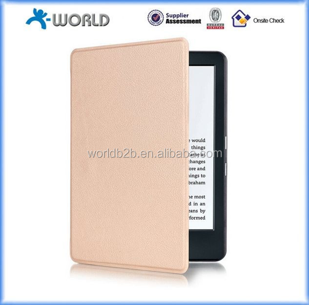 "flip leather case for new kindle 2016 6 inch e-reader, leather case for 6"" e-reader 2016 new kindle"