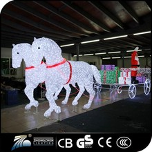 2015 hot sale indoor & outdoor Crystal Santa Claus christmas decoration
