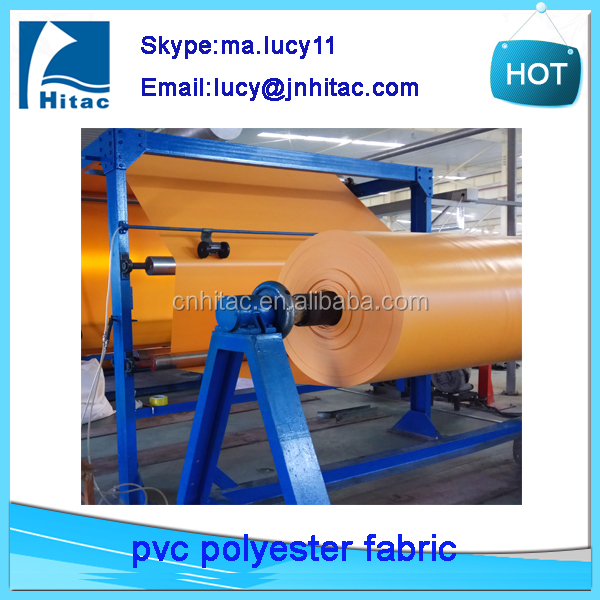 UV protection pvc vinyl knife coated fabric tarpaulin roll material manufacturer