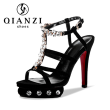 7139 personalized sandal shoes ladies cheap high heel platform sandals chappal