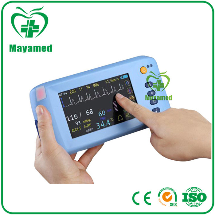 Best compact and portable multi-parameter ICU 5 inch touch screen handeld multi-parameter patient monitor price
