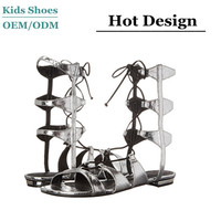 China manufacturer supply summer beatiful girls sandals knee high gladiator stylish sandals for girls