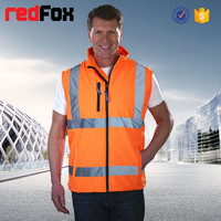 high visibility security padding guard vest