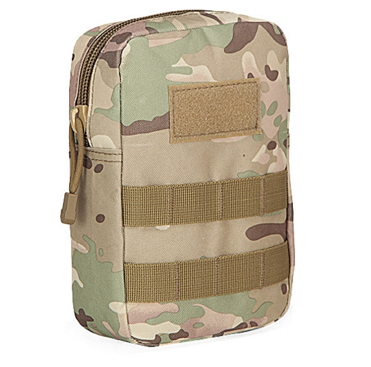 Nylon Military Camo Pouch With Adjustable Strap, Snap Close( FD1077)