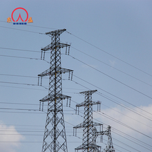 110kv galvanized transmission line angle electric power steel tower