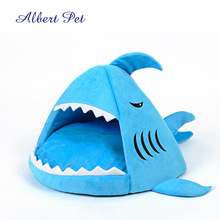 Portable Luxury Shark Pet Bed for Cat Dog