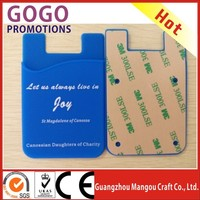new product custom made siliocne smart wallet mobile card holder for various of phone, Wallets/Silicone Back Phone Pouch