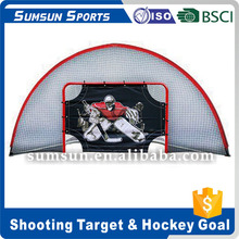 Ice Hockey Backstop Training Rebounder/Lacrosse Shot Target Barrier/Portable Hockey Shooting Net
