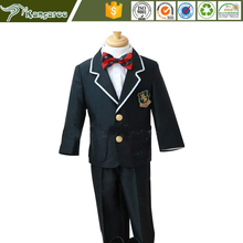 Boy's Black Single Breasted Wedding Dress Suits
