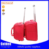 new arrival technology 3pcs wheeled bags red color ladies hand bag sport duffel cabin size wheeled trolley bag