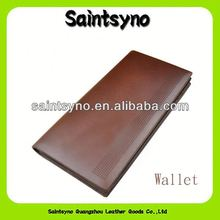 13142 Classic ID card holder long bifold mens leather attention wallet