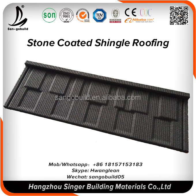 New Zealand Standard Guangzhou Low Price Linyi Quality Roofing Stone Coated Metal Aluminum Roofing Designs Sheet In Nigeria