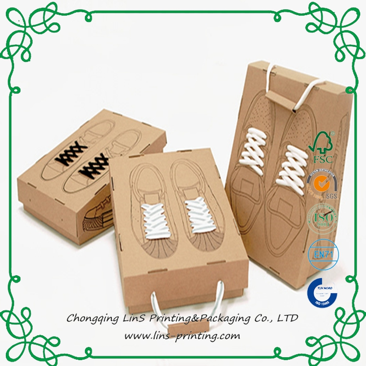 20 Years in Designing Printing Paper Shoe Box Packaging 350g 300g Manufacture