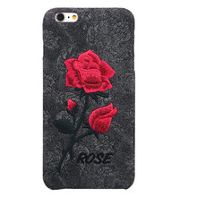 3D handmade Flower cloth Rose phone case for iphone 6 6S