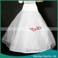 1 Hoop 3 Layer Wedding Bridal Gown Dress Underskirt Petticoat White