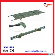 wholesale Military Alumimum Alloy 2 Folding Stretcher Folding Canvas Stretcher with CE/FDA/ISO Certification Trade Assurance