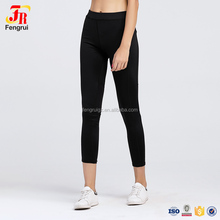 Ladies Active Elastic Waist Women Skinny Quick Dry Gym Capri Workout Pants High Waisted Sheer Mesh Spliced Insert Yoga Leggings