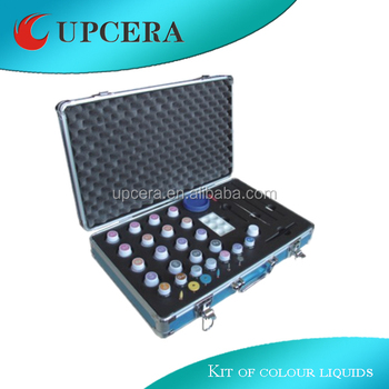Kit of coloring liquids for full contour crowns of dental zirconia blank