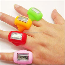 Fashion Hotsale Digital Silicone Rubber Finger Ring Watch