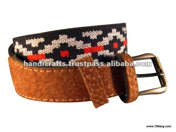 BELT IN CAPYBARA AND PAMPA DESIGN
