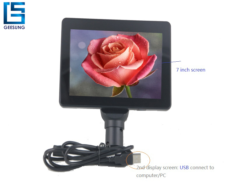 Mini USB power and date input Customer Display monitor for supermarket and restaurant