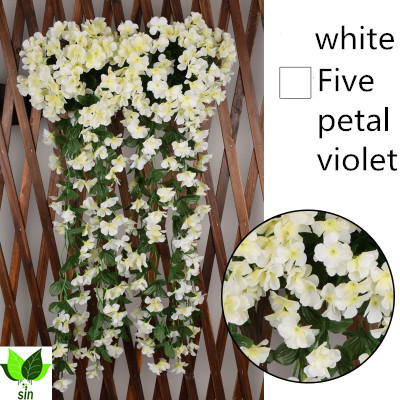 white Decorative forwedding Artificial Violet Flower