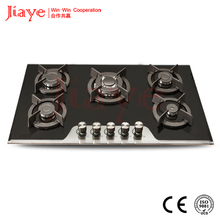 90CM glass gas cooker with 5 burner built in gas hobJY-G5053