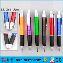 Black rubber grip big refill click promotion pen